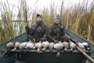 Trail End Camp ducks