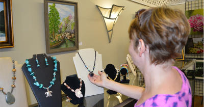 Shopping at Gallery on the Square