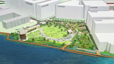 Rendering of North Waterfront Park
