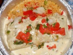 The Loco Burrito has plenty of fresh tomato, large-chopped onion  and spicy rice.
