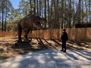Get up close to dinosaurs at Brookgreen Gardens