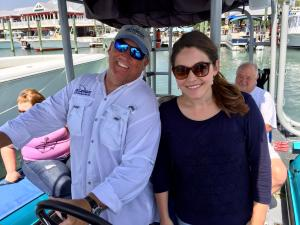 Nora and Captain on Bluewave Adventures