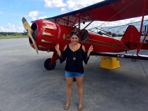 Nora gets ready for the Myrtle Beach Biplane Tour