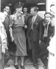 """First Lady Eleanor Roosevelt visited the """"Safe Haven"""" refugees with camp director Joseph Smart. Learn their story on August 20 at the Great Lakes Seaway Trail Discovery Center in Sackets Harbor,"""