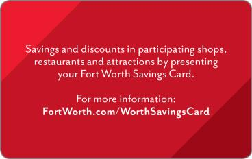Worth Savings Card