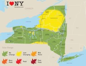 Fall Color Map, Week of Sept. 19-25