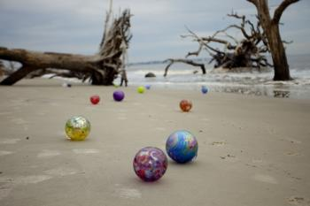 """Participate in """"Island Treasures,"""" a hunt for glass floats on Jekyll Island in the wintertime"""