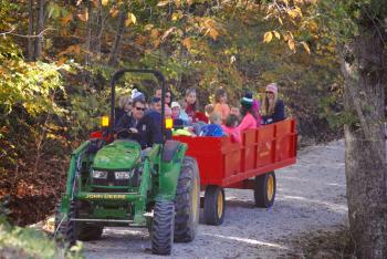Take a hayride through the fall colors at McCloud Nature Park on Oct. 21.