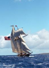 The first-ever Sailing Seaway Clayton presented by Davidson Auto Group and Lake Ontario Realty makes its way to the Thousand Islands Regional Dock at Frink Park with a special appearance by America's Privateer, tall ship Lynx.
