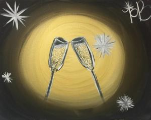 Get creative on New Year's Eve at the Sparkling Canvas