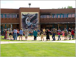 Circle dance at the Indian Pueblo Cultural Center