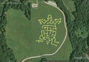 McCloud Nature Park's turtle-themed 2016 Prairie Maze