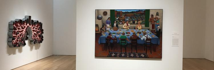 Contemporary artwork at the Nerman Museum in Overland Park