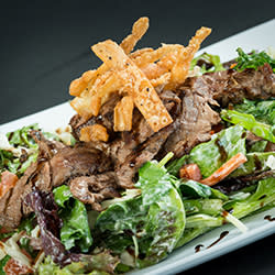 60 Bites - Z's Amazing Kitchen - Blue Cheese and Balsamic Steak Salad