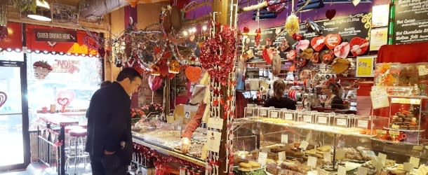 Man shopping at Piece Love and Chocolate