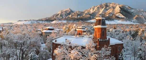 University of Colorado Boulder winter