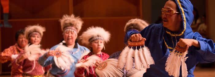 Dancers at Festival of Native Arts in Fairbanks