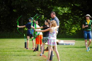 Come out to the Fall Colors Festival for some archery instruction and practice! (Credit: Hendricks County Parks & Recreation)