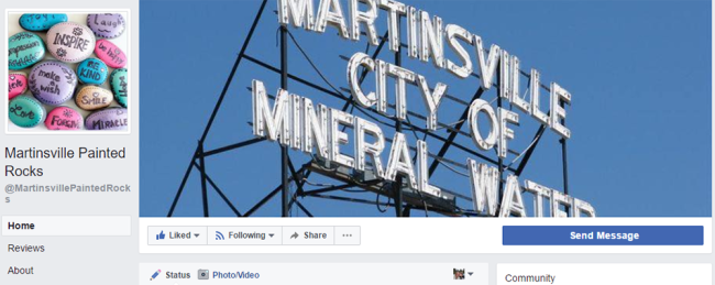 Martinsville Painted Rocks FB Page