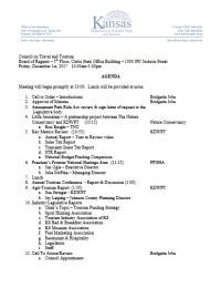 GCTT Agenda Example