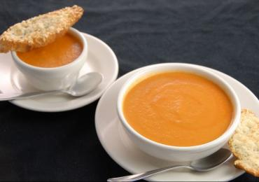Recipe: Nordstrom's Tomato and Basil Soup and Parmesan-Garlic Crostini