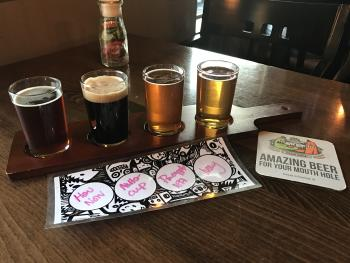 A flight at Brew Link in Plainfield is a great way to try some unique craft brews.