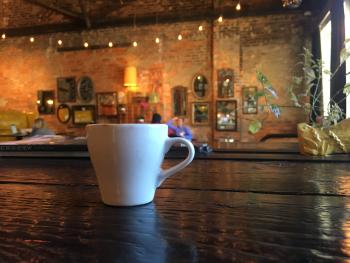 A bold and flavorful cup of coffee brewed at Iron Works Coffee - Athens, Georgia