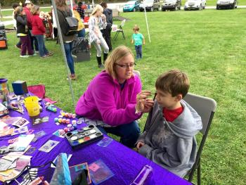 Get your face painted by Rachel Davis of The Purple Palette during the McCloud 15th Anniversary Celebration!