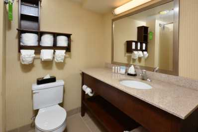 Get ready for a successful day in the guest room's bathroom!