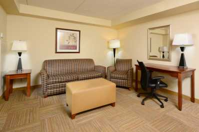 Suites offer plenty of room to relax!