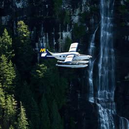 Harbour Air plane in flight