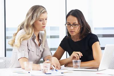 Business women meeting