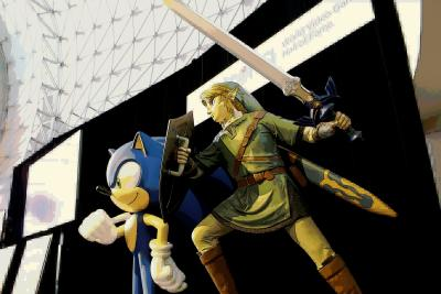 Sonic the Hedgehog and Link at the Strong in Rochester, NY