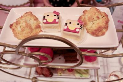Tea pastries at Hello Kitty Cafe