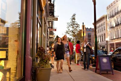 Shopping on Vine Street, over the rhine OTR