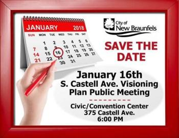S Castell Ave meeting flyer