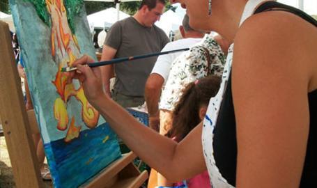 Lubeznik Center Things to Do Michigan City Lakefront Arts Festival artist