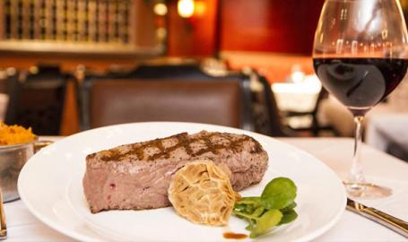 Steak at Bugatti's in Ameristar Casino East Chicago