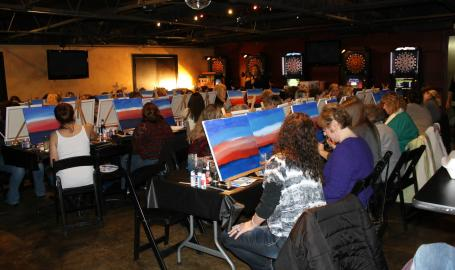 White Rhino Bar and Grill Dyer Cocktails and Canvas Event