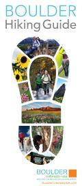 Boulder Hiking Guide Brochure Cover