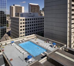 Outdoor pool at the Delta Winnipeg Downtown