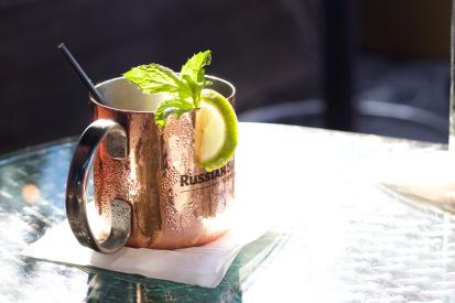 Moscow mule at Bistango in Irvine