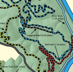 Explore Park Trail Map