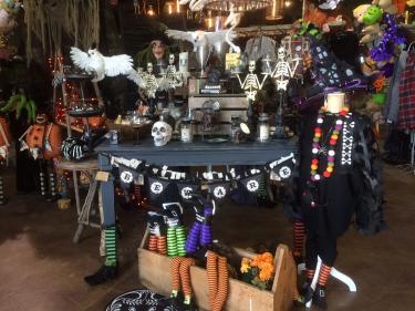 Halloween display at Frazee Gardens