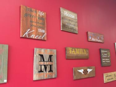Bisque Barn wood signs