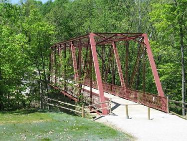 McCloud Nature Park historic iron truss bridge