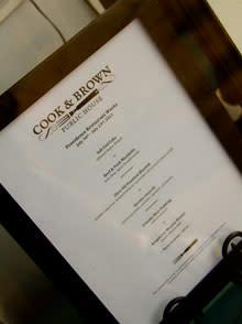 cook and brown menu