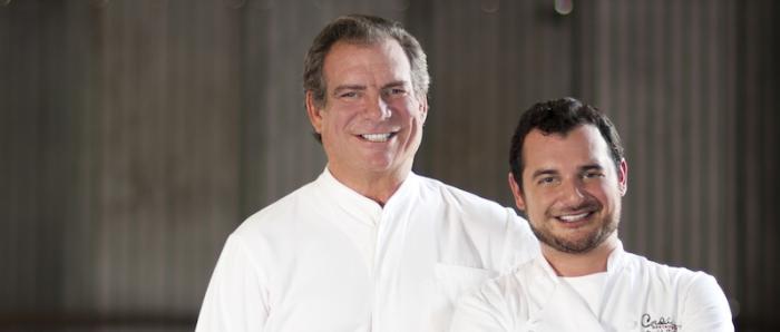 Chefs Michael Cordúa and Roberto Castre of Churrascos in Houston