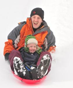 dryer-road-park-dad-son-sledding