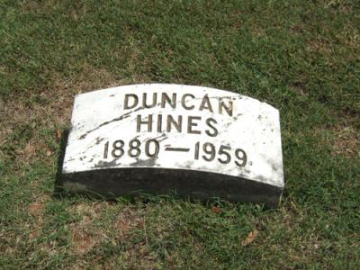 Duncan Hines Gravesite